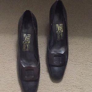 Vintage Ferragamo low heel shoes